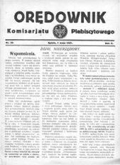 Orędownik Komisarjatu Plebiscytowego, 1921, R. 2, nr 39