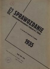 Sprawozdanie Towarzystwa Oszczędności i Zaliczek, Stowarzyszenia Zarejestrowanego z Nieograniczoną Poręką w Českém Těšíně, 1935