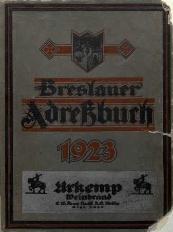 Adreßbuch für Breslau und Umgebung, 1923