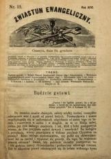 Zwiastun Ewangeliczny, 1870, nr12