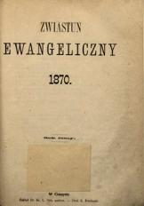 Zwiastun Ewangeliczny, 1870, spis rzeczy