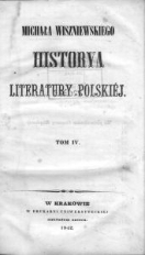 Historya literatury polskiej. T.4