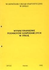 Wyniki finansowe podmiotów gospodarczych w 1994 r.