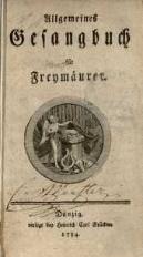 Allgemeines Gesangbuch für Freymäurer