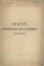 Statut Uniwersytetu Jana Kazimierza we Lwowie