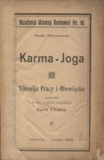 Karma-Joga. Filozofja pracy i obowiązku
