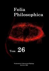Folia Philosophica 26