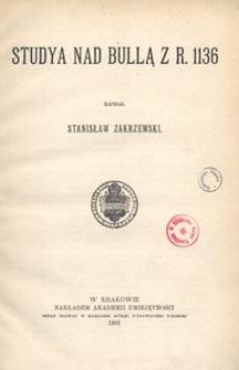 Studya nad Bullą z r. 1136