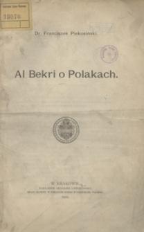 Al Bekri o Polakach