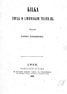 Kilka uwag o lwowskim teatrze