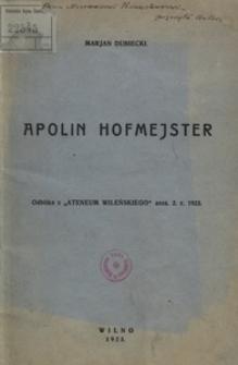 Apolin Hofmejster, naczelnik województwa brzesko-litewskiego w powstaniu styczniowem