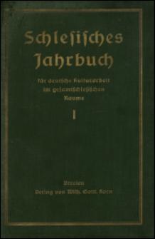 Schlesisches Jahrbuch für deutsche Kulturarbeit im gesamtschlesischen Raume, 1928, Jg. 1