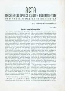 Acta Curiae Archiepiscopalis Olomucensis pro parte Sudetica et Borussica 1944, nr 12.
