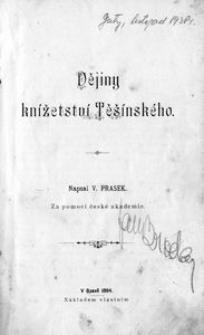 Dějiny knížetství Těšínského