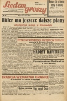 Siedem Groszy, 1939, R. 8, nr 83