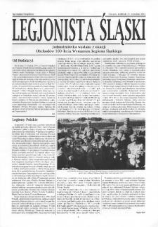 Legjonista Śląski : jednodniówka wydana z okazji Obchodów 100-lecia Wymarszu Legionu Śląskiego, 2014