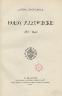 Hołdy mazowieckie 1386-1430