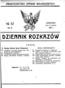 Dziennik Rozkazów, 1920, R. 3, nr 32