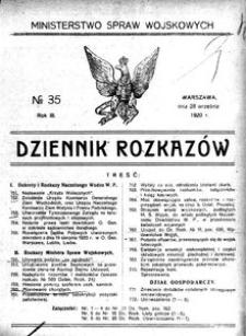 Dziennik Rozkazów, 1920, R. 3, nr 35