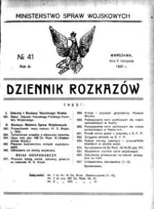 Dziennik Rozkazów, 1920, R. 3, nr 41