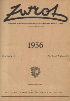Zwrot, R. 8 (1956), Nry 1-12