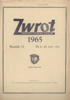 Zwrot, R. 17 (1965), Nry 1-12