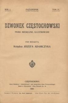 Dzwonek Częstochowski : pismo miesięczne, illustrowane, 1901, R.1, T.4 - październik