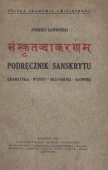 Podręcznik sanskrytu. Gramatyka, wypisy, objaśnienia
