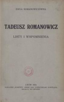 Tadeusz Romanowicz. Listy i wspomnienia