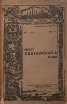 Młody Krajoznawca Śląski, 1938, R. 5, nr 3