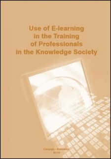 Use of E-learning in the training of professionals in the knowledge society : monograph