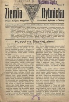 Ziemia Rybnicka, 1934, R. 1, nr 2