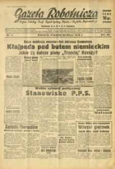 Gazeta Robotnicza, 1939, R. 43, nr 71