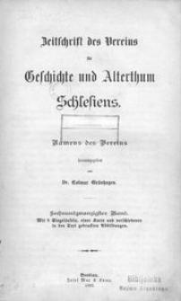 Zeitschrift des Vereins für Geschichte und Alterthum Schlesiens, 1892, Bd. 26