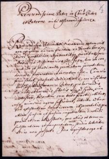 Pisma i odpisy pism od różnych osób do przełożonych cieszyńskiej rezydencji jezuitów w różnych sprawach z lat 1675-1775