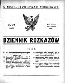 Dziennik Rozkazów, 1928, R. 11, nr 32