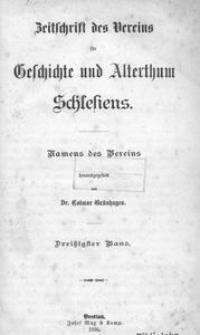 Zeitschrift des Vereins für Geschichte und Alterthum Schlesiens 1896, Bd. 30