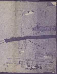 Baborów. Plan schematyczny stacji kolejowej z 1960 r.