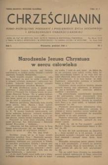 Chrześcijanin, 1946, R. 1, nr 2