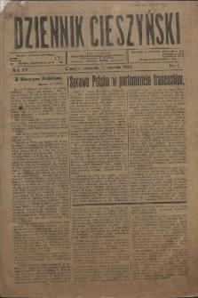 Dziennik Cieszyński, 1920, Nry 1-23, 25, 26, 32-38, 41-52, 54-56, 58-73