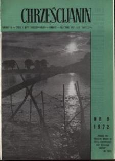 Chrześcijanin, 1972, nr 9