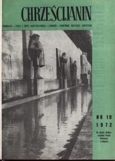 Chrześcijanin, 1972, nr 10