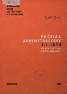 Podział administracyjny 1 I 1973. Województwo wrocławskie