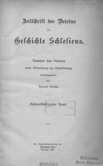 Zeitschrift des Vereins für Geschichte Schlesiens. Namens des Vereins unter Mitwirkung der Schriftleitung, 1924, Bd. 58