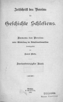 Zeitschrift des Vereins für Geschichte Schlesiens. Namens des Vereins unter Mitwirkung der Redaktionskommission, 1908, Bd. 42