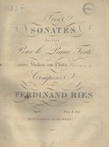 Trois sonates faciles pour le piano forte avec violon ou flûte (ad libitum), op. 86