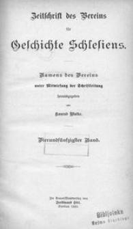 Zeitschrift des Vereins für Geschichte Schlesiens. Namens des Vereins unter Mitwirkung der Schriftleitung, 1920, Bd. 54