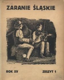Zaranie Śląskie, 1939, R. 15, z. 1