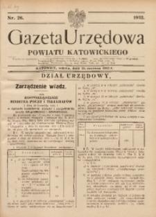 Gazeta Urzędowa Powiatu Katowickiego, 1932, nr26