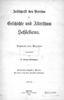 Zeitschrift des Vereins für Geschichte Schlesiens. Namens des Vereins, 1897, Bd. 31